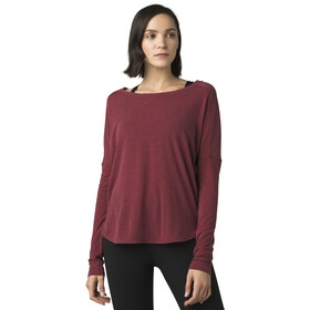 Prana Rogue Top Manga Larga Mujer, spiced wine